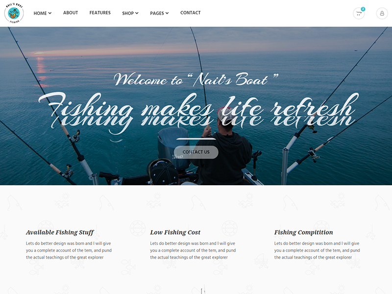 Nails Boat - Fishing and Hunting Club HTML Template by