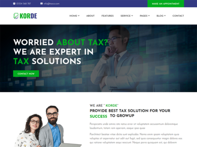 Korde - Finance, Tax, Consulting & Corporate HTML Template by ...