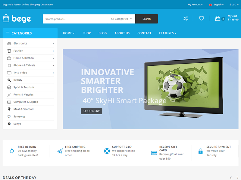 Bege Ecommerce Bootstrap Template By Hastech Dribbble Dribbble
