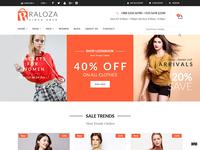 Raloza - Fashion E-commerce Bootstrap 4 Template