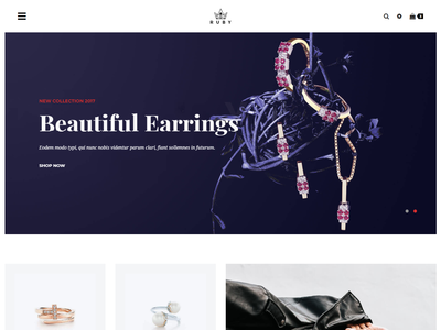 Ruby - Jewelry Store eCommerce Bootstrap 4 Template bootstrap responsive bootstrap template responsive multipage modern mega menu jewelry store jewelry html template fashion e-commerce clean bootstrap 4 beauty