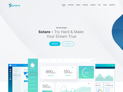 Sotare - Software Landing Page Bootstrap 4 Template