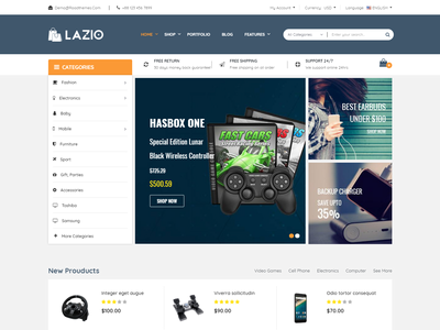 Lazio eCommerce Bootstrap 4 Template responsive online store interior glass furniture fabric electronics shop electronics electrical product store ecommerce decor book store book shop book publisher book