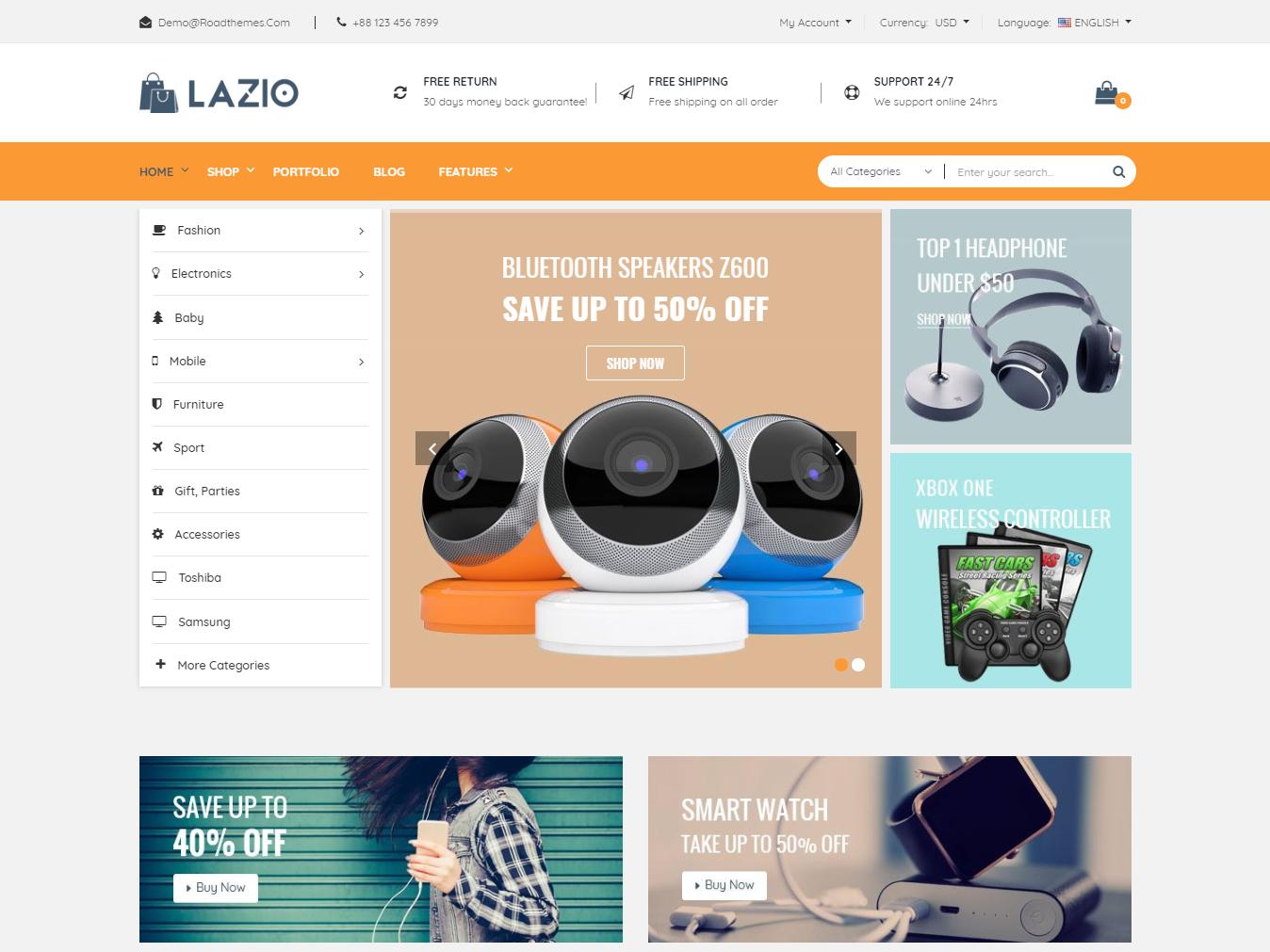 lazio multipurpose ecommerce bootstrap 4 template by. Black Bedroom Furniture Sets. Home Design Ideas