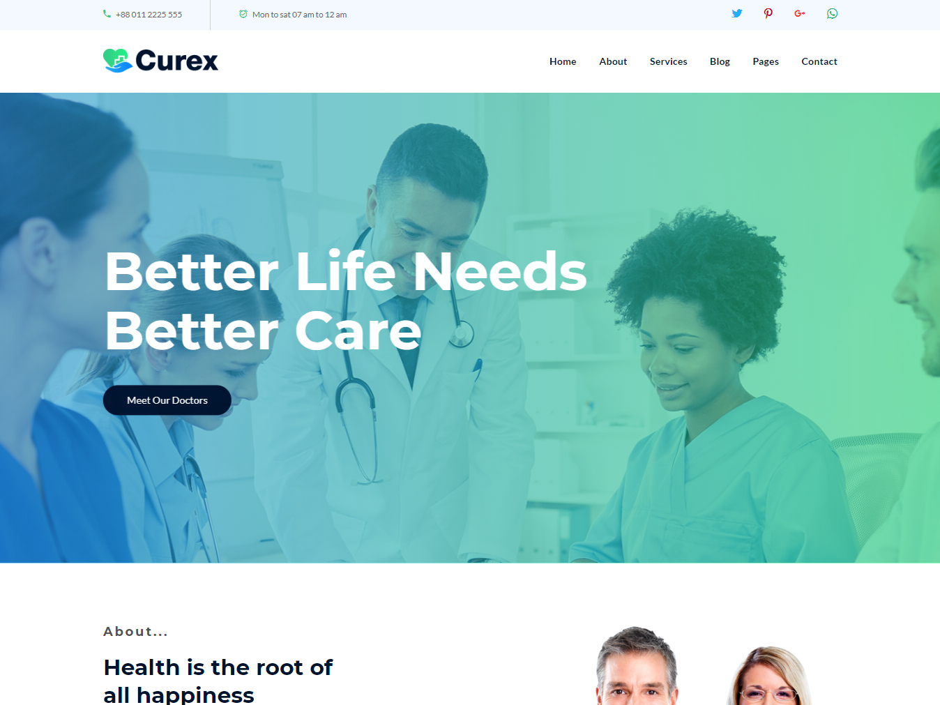 Curex - Medical Clinic Service HTML Template by HasTech on Dribbble