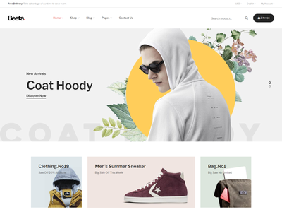 Beeta - Multipurpose eCommerce Bootstrap 4 Template shop retail modern html5 fashion ecommerce digital cosmetic clothes clean bootstrap4 beauty accessories