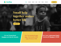 Astha – Charity Bootstrap 4 Template