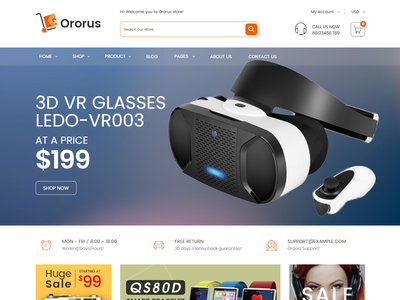 Ororus - Electronics eCommerce Shopify Theme