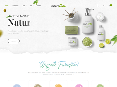 Naturecircle - eCommerce Bootstrap 4 Template responsive organic store organic food organic online store fresh fruit modern health grocery store food ecommerce eco products clean bootstrap 4 beauty agriculture