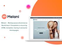 Melani - Multipurpose eCommerce Bootstrap 4 Template