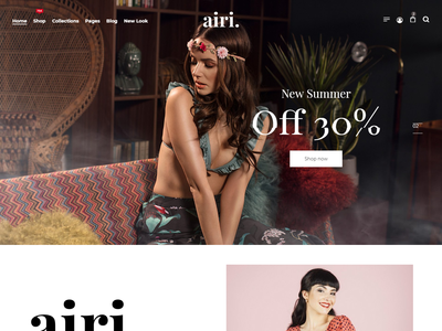 Airi - Clean, Minimal eCommerce Bootstrap 4 Template