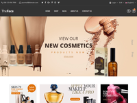 TheFace - Beauty & Cosmetics eCommerce Bootstrap 4 Template