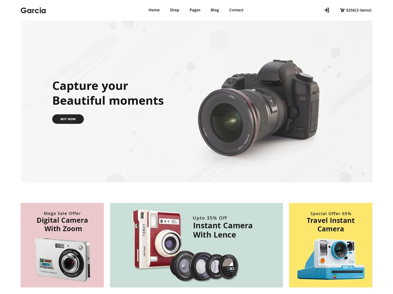 Garcia - Camera Store HTML Template by HasTech on Dribbble