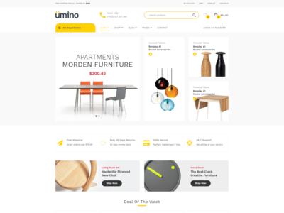 Umino   Furniture   Interior Ecommerce Bootstrap 4 Template