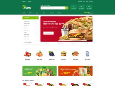 Organic Food Html Template   Origine