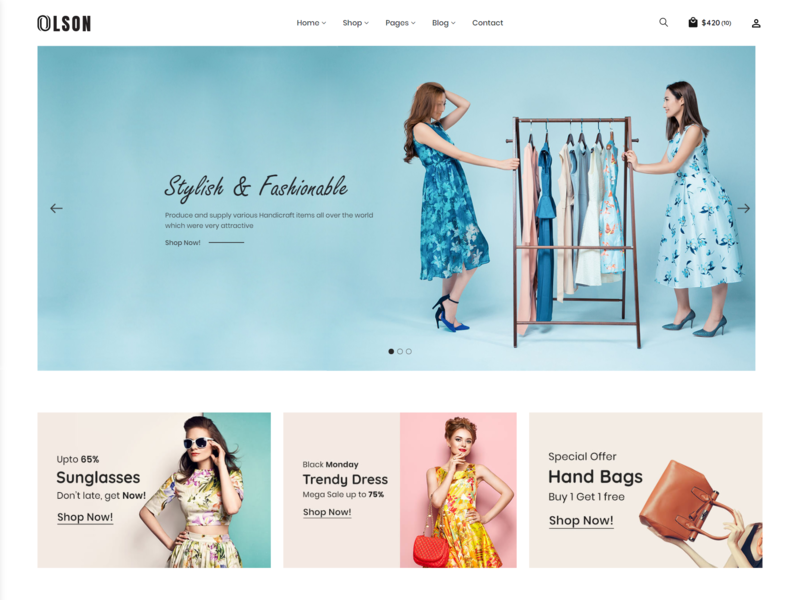 Olson   Ecommerce Bootstrap 4 Template html5 responsive bootstrap store shopping page builder online store multipurpose multi layouts furniture fashion blog fashion clothing store clothing shop clothes clean boutique