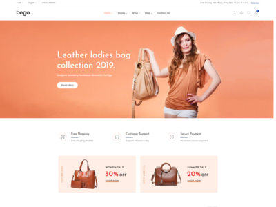 Bego   Ecommerce Bootstrap 4 Template
