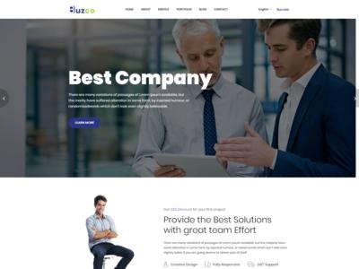 Buzco   Corporate Business Bootstrap 4 Template