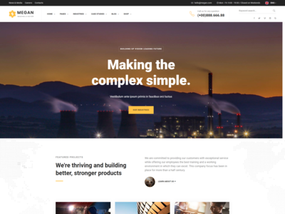 Megan   Industrial   Manufacturing Businesses Html Template