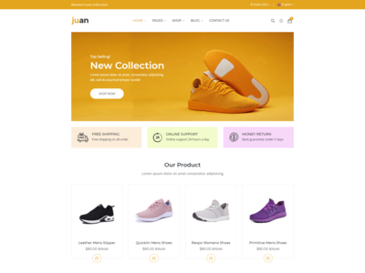 Juan   Shoes Store Html Template