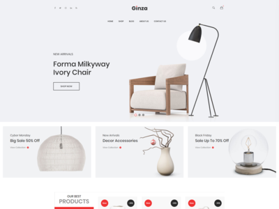 Ginza   Furniture Ecommerce Html Template