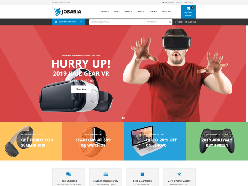 Jobaria   Electronics Store Html Template html5 bootstrap technology store store shop responsive online shop html high tech gaming device gadgets electronics store electronics electronic html ecommerce digital accessories