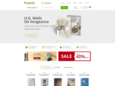 Pustok   Book Store HTML Template
