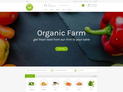 Organic Food Shopify eCommerce Theme   Greenfarm