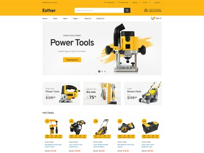 Esther - Tools & Accessories Store HTML Template