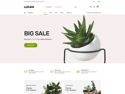 Lukani – Plant and Flower Shop eCommerce HTML Template