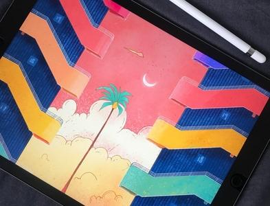 Colors building building colors procreate illustrations