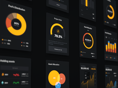Data Visualization dark uidesign data visualization