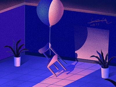The more affinitydesigner stool balloon illustration