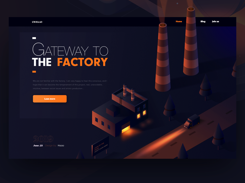To the factory affinitydesigner truck factory illustrations orange isometric illustrator web