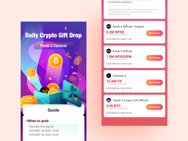 Crypto gift box gifts gold carnival crypto gift h5
