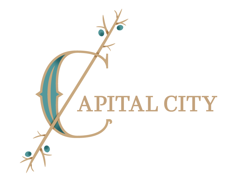 Capital City Logo table-top games game logo branding third act publishing capital city