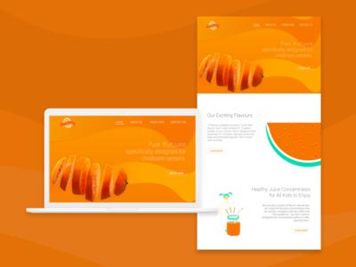 Penny Juice Website Re-Design