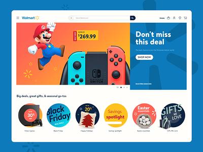 Walmart UI Animation Concept concept forfun deal games mario loading microanimation animation webdesign store ecommerce walmart ui