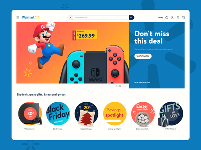 Walmart UI Animation Concept concept forfun deal games mario loading microanimation animation webdesign store ecommerce walmart ui