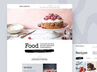 Bea's cookbook blog redesign