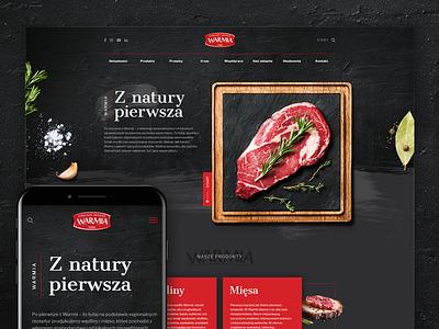 Warmia steak red cow beef vegetables dark wordpress website food meat warmia
