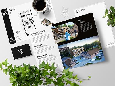 Real Estate Dragonow brand branding design black logotype identity brochure real estate logo branding