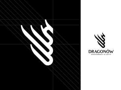 Dragonow logo mark brand identity real estate identity dragonow dragon logo mark logotype logo brandig
