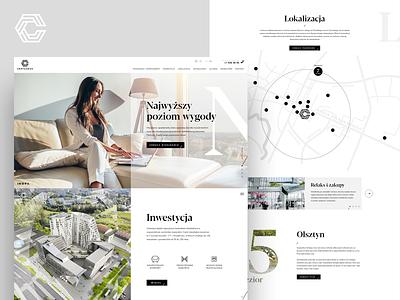 Centaurus - real estate website design webpage housing houses home property website ui design ux ui concept webdesign real estate