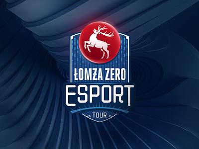 Łomża Zero Esport identity branding deer esport logo logo design tour mark logomark logotype logo beer esport łomża zero esport łomża