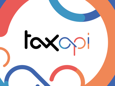 taxapi type playful colors typography logo typography mark taxapi tax logotype logo identity