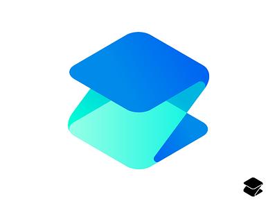 Z-Paper icon branding colorful paper letter symbol mark identity logo