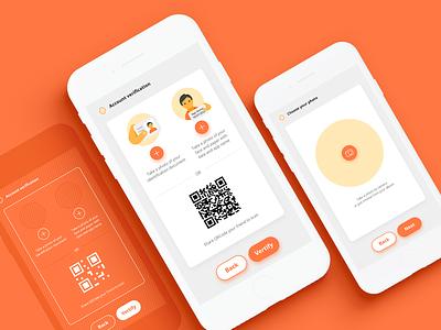 Verification Screens ios interfacedesign app design mobile verification ui interface app