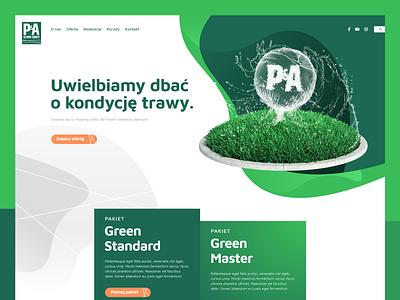 Lawn Care Website design webpage ui lawncare green grass wordpress webdesign website