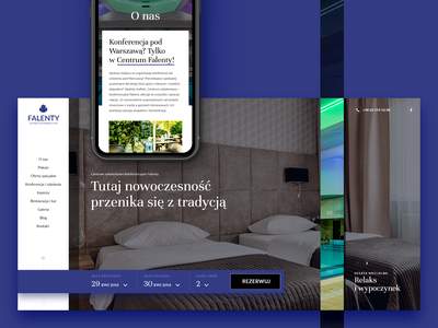 Falenty Hotel & Conferences wordpress design rooms business leisure conference conferences reservation ui webdesign hotel